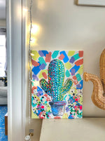 Colorful Cactus Canvas