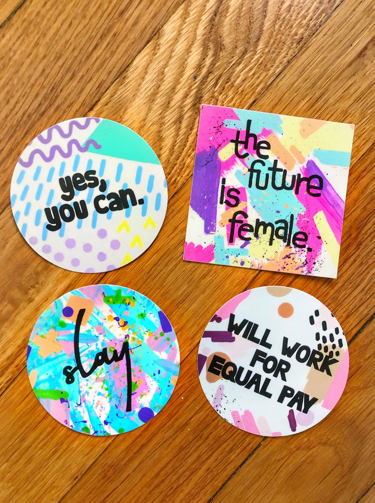 Female Empowerment Sticker 4-Pack