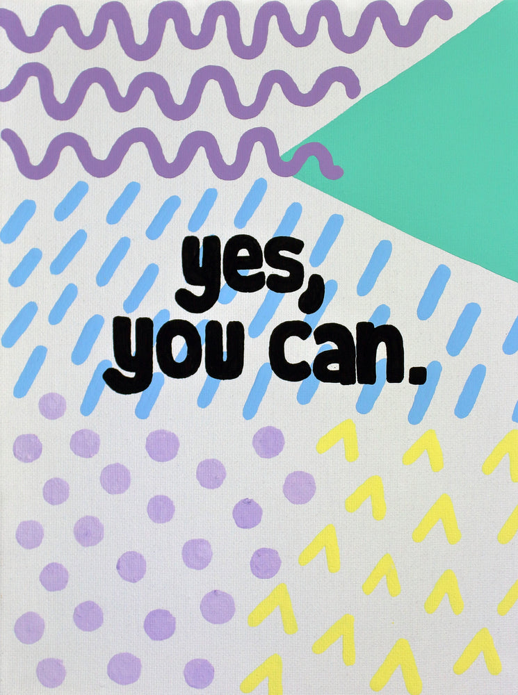 "The ""Yes You Can"" 3""x3"" circle sticker is a daily reminder that you can do anything you set your mind to. You were put on each mountain to climb it and the grass will be greener on the other side. Namasté!"