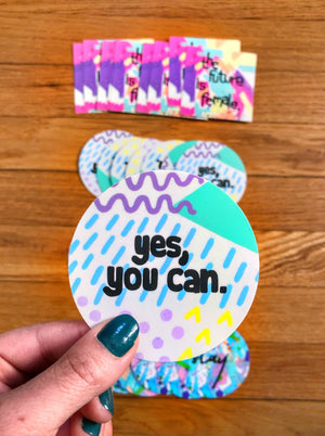 "Ignite your inner girl boss with my Female Empowerment Sticker 4-pack! It's the ultimate bundle for all of my bad ass betches out there. Choose up to 4 designs. 3""x3"" sticker 