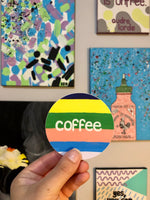 Colorful Coffee Sticker