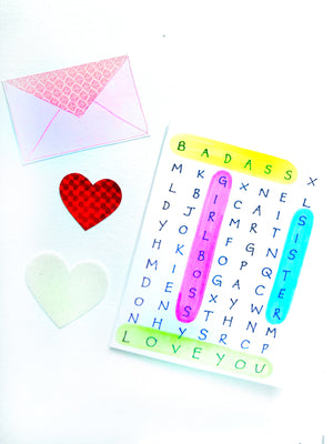 GALentine's Word Search Valentine's Day Card