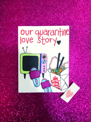Quarantine Love Story Valentine's Day Card