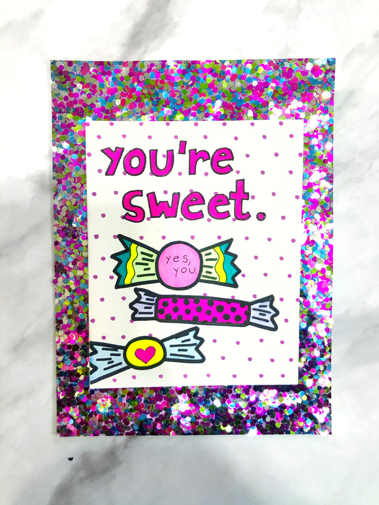 Sweet Like Candy Valentine's Day Card