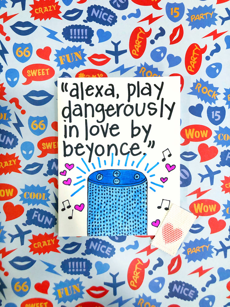 Dangerously In Love Beyoncé Valentine's Day Card