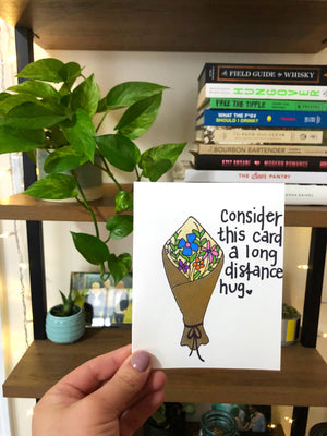 Long Distance Hug Valentine's Day Card