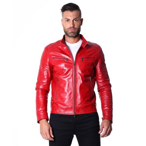 Genuine Red Leather jacket