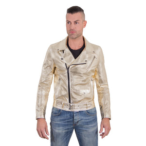 Men's Leather Biker Jacket belted Perfecto | Made In Italy - dkjackets