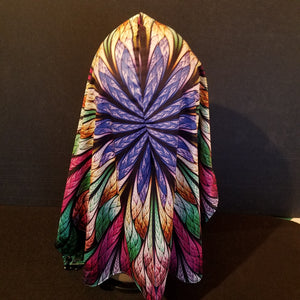 Stained Glass Feathers Hood