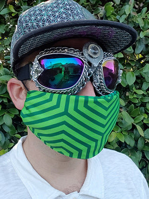 Green Hexagon Bandanna