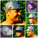Silver SHATTER Holographic Sparkle Hat