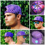 Purple Holographic Sparkle Hat