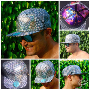 SILVER Holographic Sparkle Hat