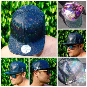 BLACK SPARKLE Holographic Hat