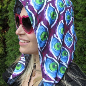 Hood - Infinity Eyes & Flower Of Life Reversible Chain Hood