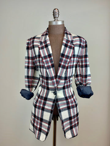 Plaid Blazer w/ Full Lining
