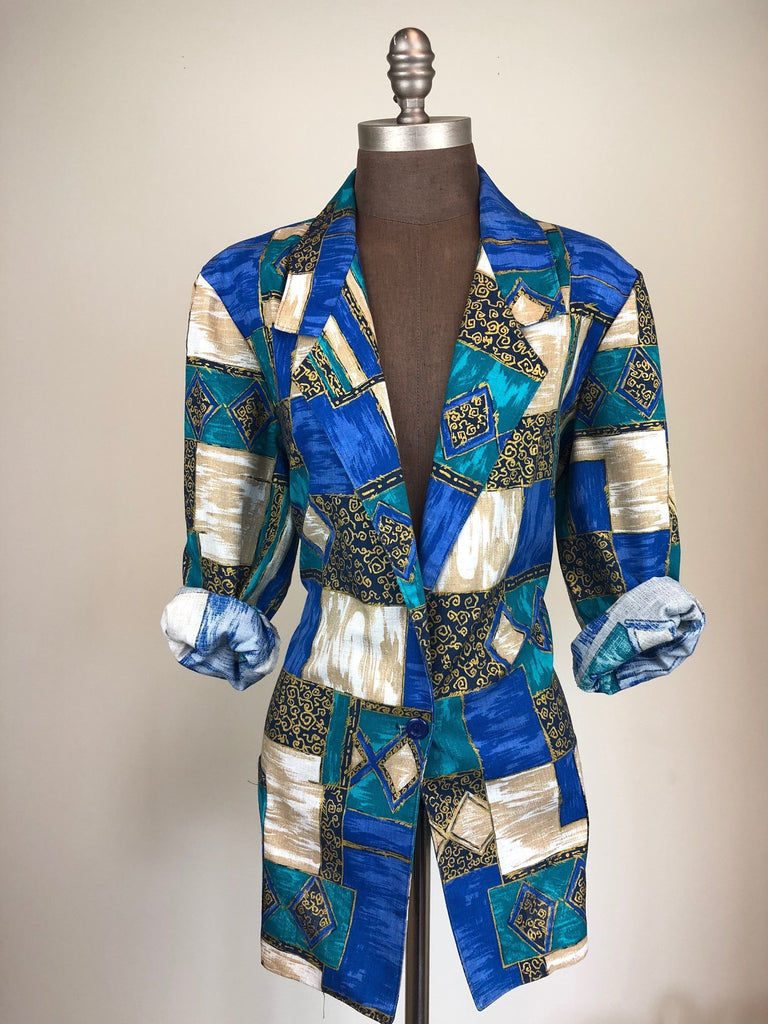Ancient Print Blazer