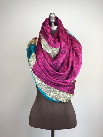 Multi-colored Wrap Scarf