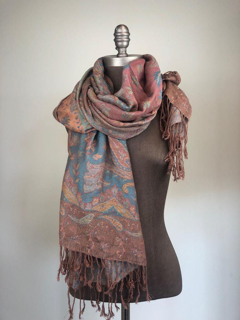 Pastel Paisley Soft Scarf