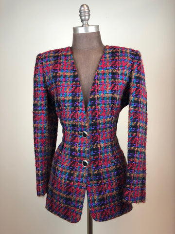 Lord & Taylor Houndstooth Blazer
