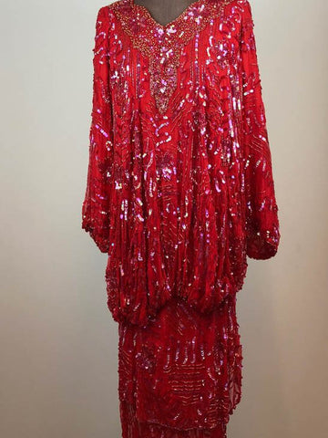 Gatsby Red Sequins Dress
