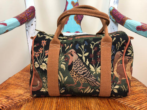 Safari Print Canvas Dr. Bag