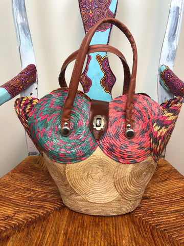 Colorful Straw Purse