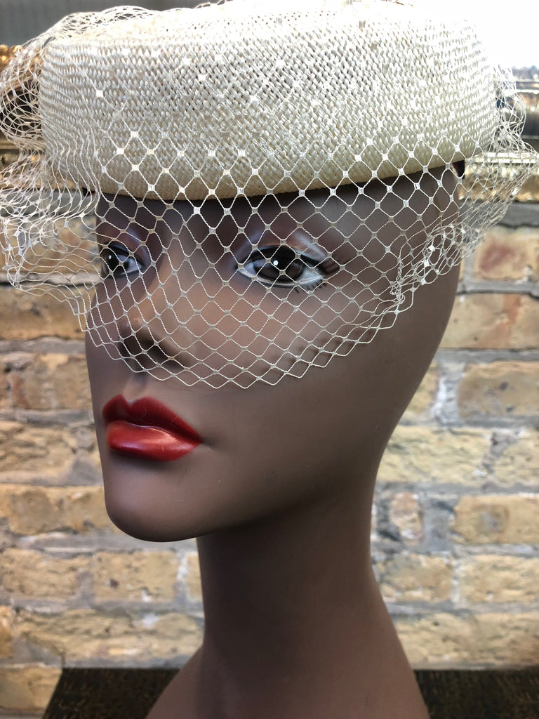 Cream Pillbox Hat