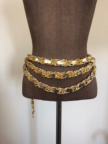 Gold Tier Chain Belt