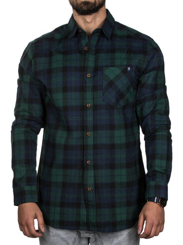 Campfire Flannel Green/Navy