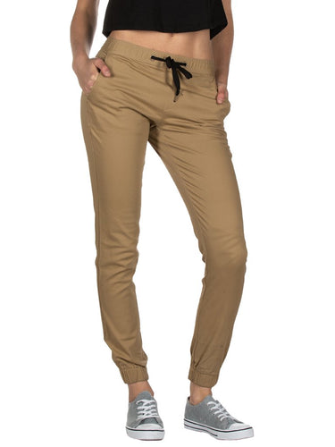 Ladies Khaki Joggers