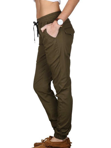 Ladies Military Green Joggers