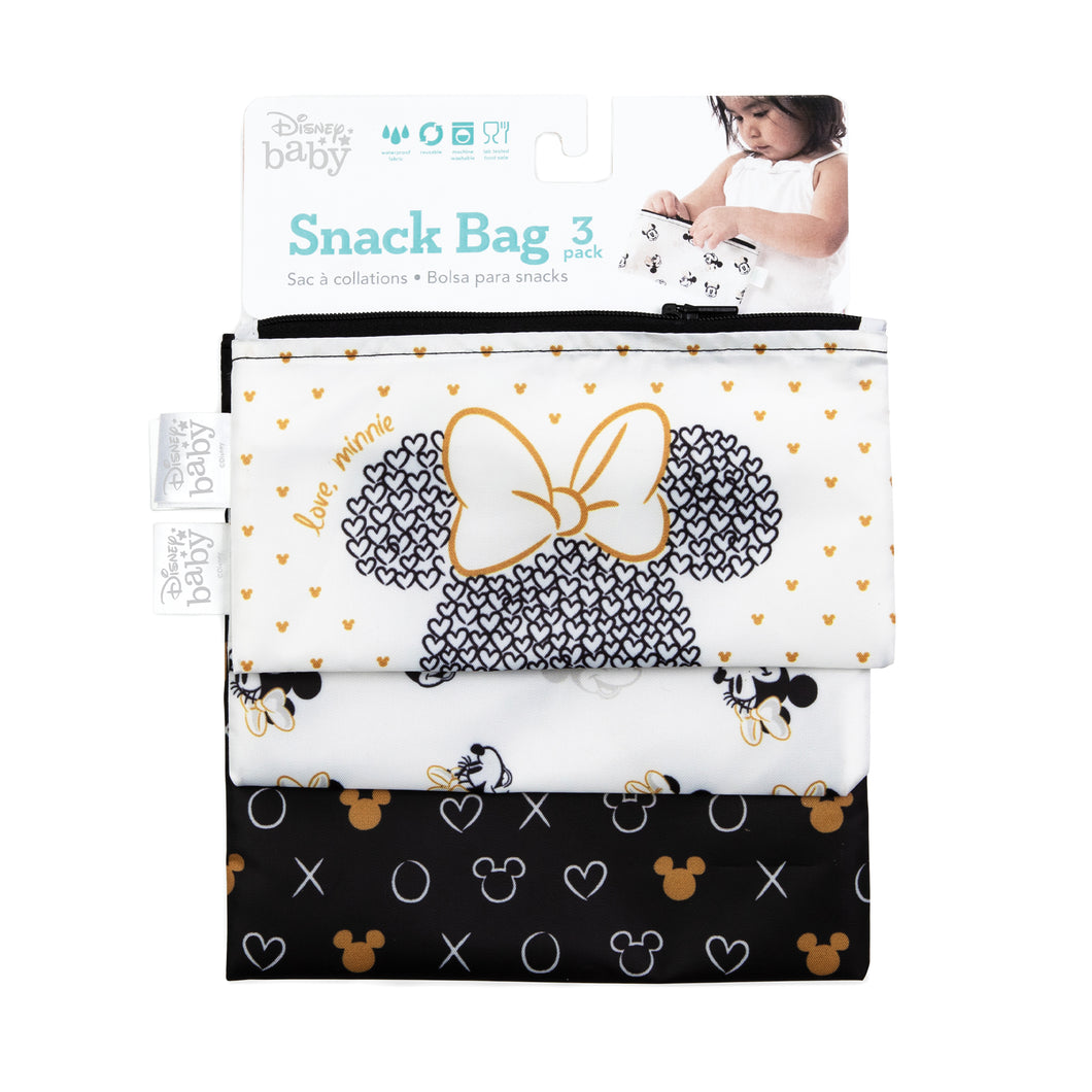 Bumkins-Disney Minnie Reusable Snack Bag 3 pk