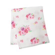 Load image into Gallery viewer, Lulujo Muslin Swaddle - Posies