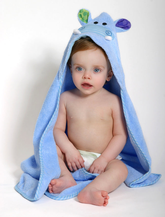 Zoocchini - Henry the Hippo Baby Towel