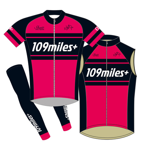 109miles+ Club Jersey & Gilet & Arm Warmers Bundle