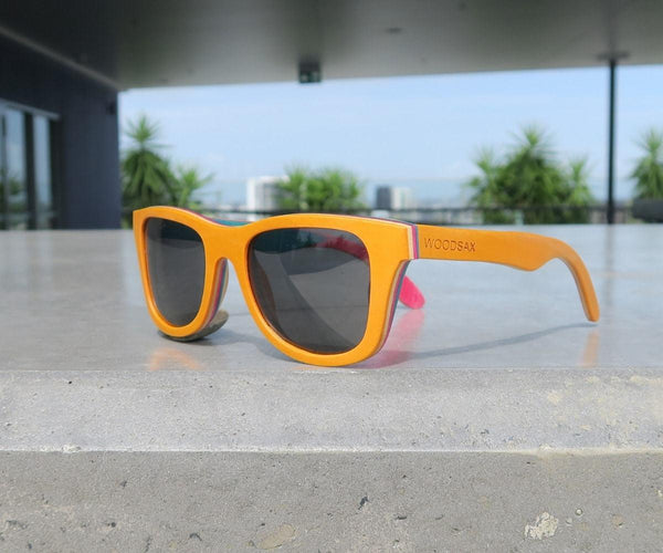 Skaboar Yellow - Wooden sunglasses - Woodsax