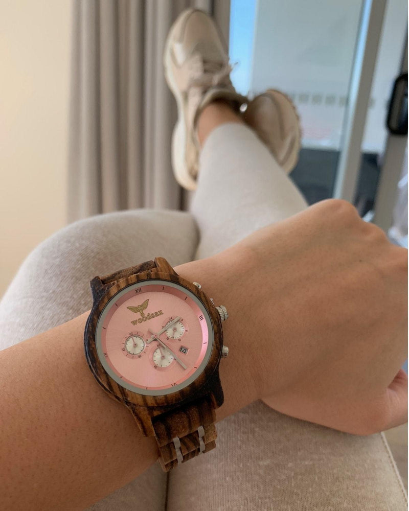 VERSATILE Ladies - rose gold watches for women - WOODSAX