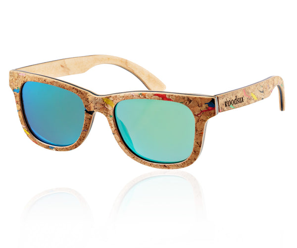 Woodsax Square Poli model - wood sunglasses
