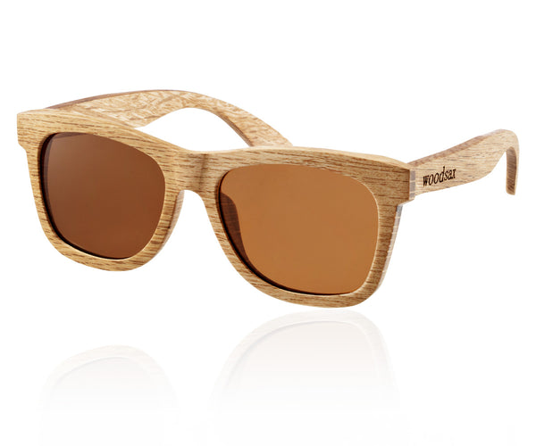 Woodsax Broweni model - wooden sunglasses with brown lenses