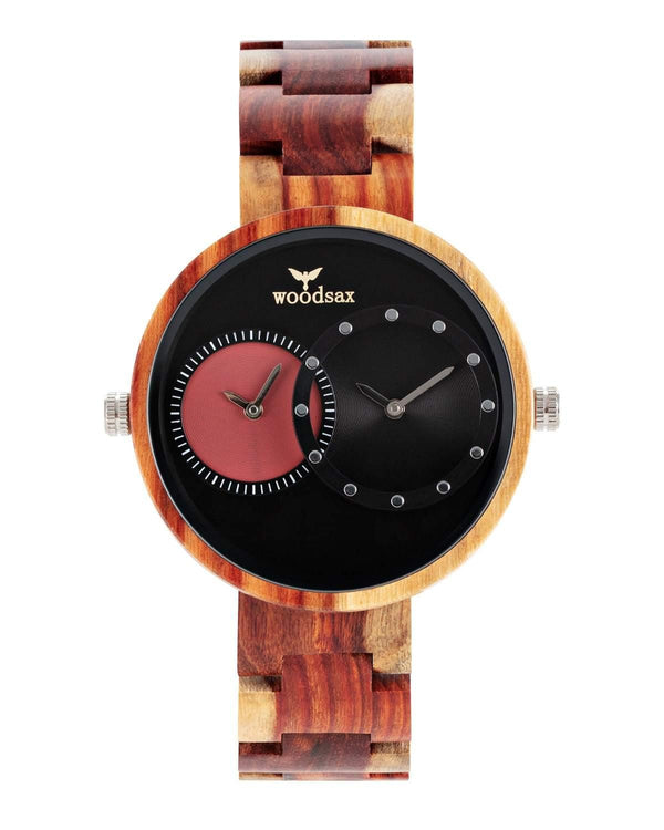 Twotime Red - wooden watch for men & women