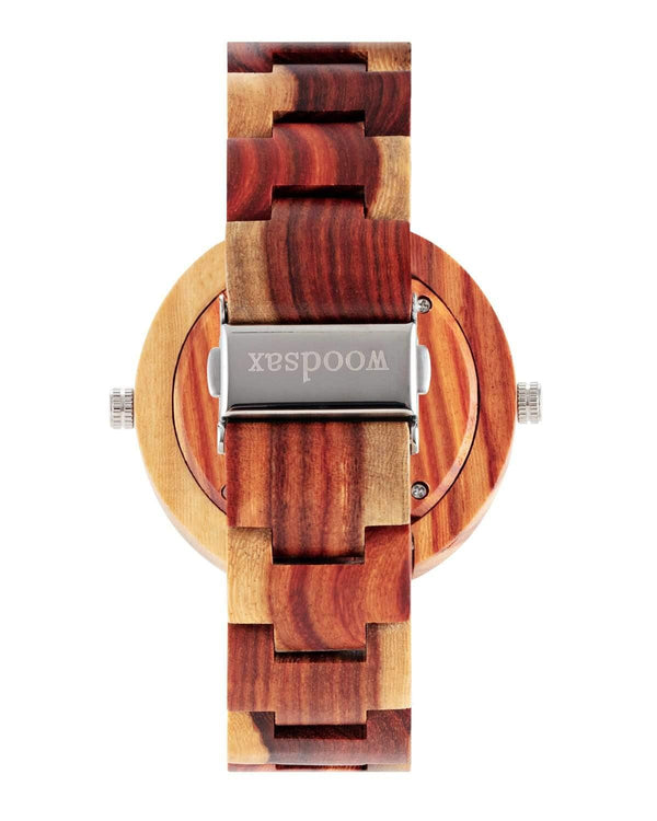 Twotime Red - wooden watch for ladies & gentlemen
