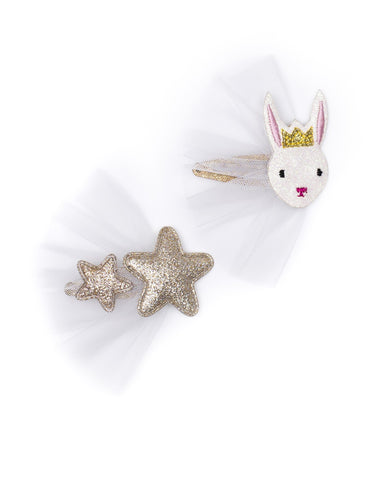Ballet Rabbit Hair Clip Set