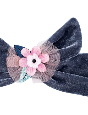 Magic Flower Velvet Tie Head Band
