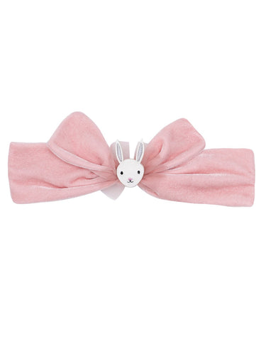 Dreaming Bunny Velvet Tie Head Band