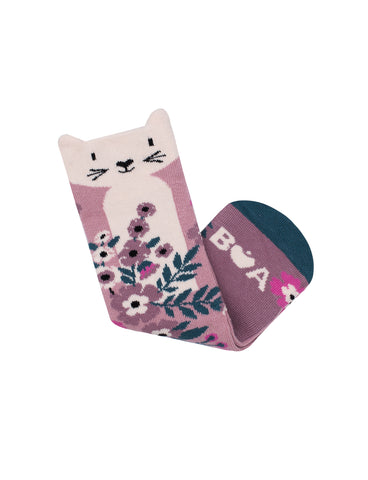 Springtime Cat Midi Sock