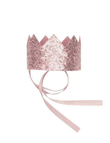 Rose Pink Sequin Crown