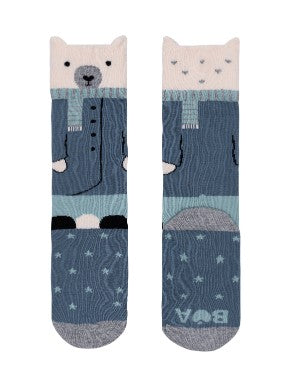 Well Dressed Bear Knee Hi Socks
