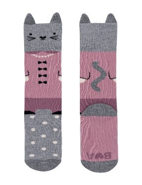 Well Dressed Cat Knee Hi Socks
