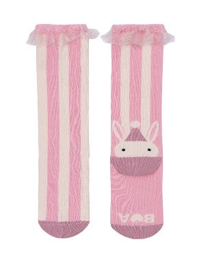 Big Top Stripe Pink Knee Hi Socks